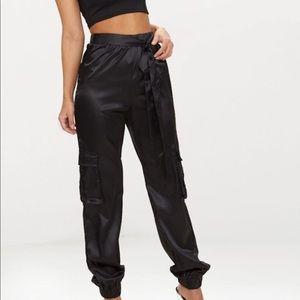 Satin Cargo trousers